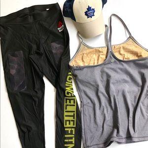 Reebok leggings and Lululemon tank set